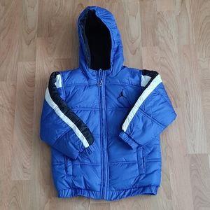 Nike Jordan Blue Black Winter Jacket Coat Size 4T